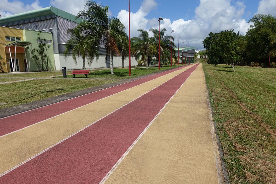 LA PISTE D'ATHLÉTISME IMS Martinique